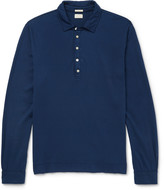 Massimo Alba - Ischia Slim-fit Cotton And Cashmere-blend Polo Shirt
