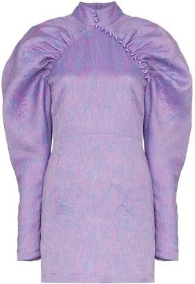 Rotate puff-sleeve mini dress