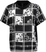 Mother of Pearl Nell printed silk crepe de chine and cotton top