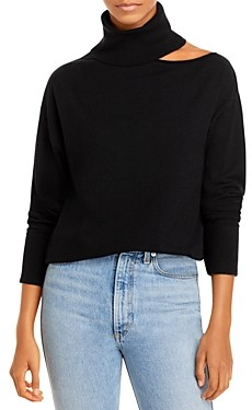 Aqua Cutout Collarbone Turtleneck Sweater - 100% Exclusive