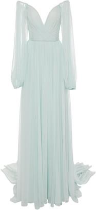 Monique Lhuillier Silk-Chiffon Gown