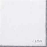 Reiss Harleston PIPED LINEN POCKET SQUARE