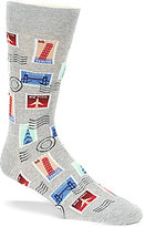 Hot Sox Stamp Crew Socks