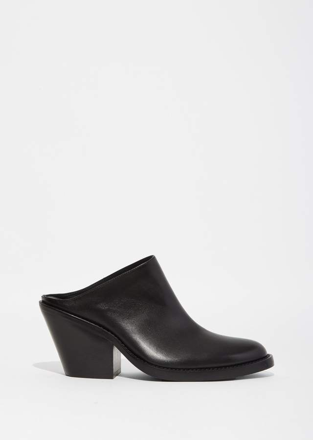 Ann Demeulemeester Leather Heeled Mule Black