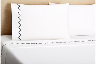 Belle Epoque Francesa Scalloped Sheet Set - Navy Queen