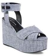 Alice + Olivia Violet Studded Platform Wedge Sandals