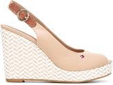 Tommy Hilfiger zigzag wedge sling-back sandals