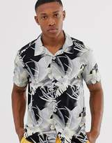 Esprit rever collar shirt with tropical print