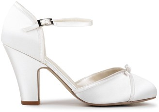 Paradox London Satin 'Castello' High Heel Block Heel Court Shoes