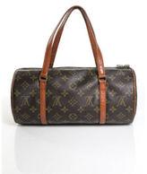 Louis Vuitton Brown Coated Canvas Monogram Gold Tone Papillon Handbag