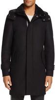 Mackage Wool Shearling Collar Duffle Coat