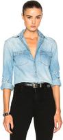 Saint Laurent Classic Western Indigo Shirt