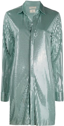 Bottega Veneta sequin-embellished long-line shirt