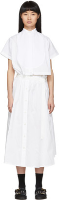 Sacai White Cut-Out Shirt Dress