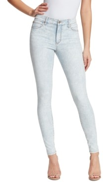 Skinnygirl Christina Marie Mid-Rise Marble Printed Skinny Jeans