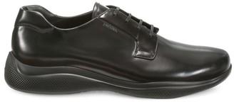 Prada Spazzolato Rois Lace-Up Shoes