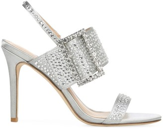 Via Spiga Macyn 2 Embellished Satin Slingback Sandals