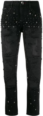 Philipp Plein Boyfriend Stars embellished jeans