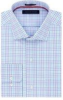 Tommy Hilfiger Men's Non Iron Regular Fit Tattersall Spread Collar Dress Shirt