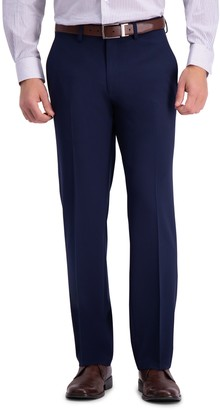 """Haggar Solid 4-Way Stretch Suit Separate Pants - 30-34"""" Inseam"""