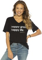 Peace Love World Happy Grad Happy Life V-Neck Tee