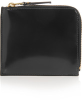 Comme des Garcons Glossed-leather Wallet - Black