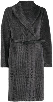 Fabiana Filippi Oversize Check Wrap Coat