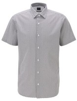 BOSS Regular-fit shirt in cotton with printed icons