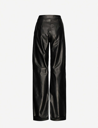 16Arlington Sakura wide-leg high-rise leather trousers