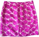 Balenciaga Pink Silk Skirt