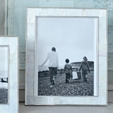 The White Company Mother of Pearl White Photo Frame 8x10