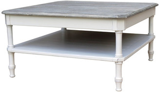 Trade Winds Furniture Island Square Coffee Table, White