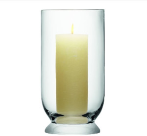 LSA International Large Terrace Glass Storm Lantern 40cm - Glass