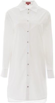 STAUD Button Detail Shirt Dress