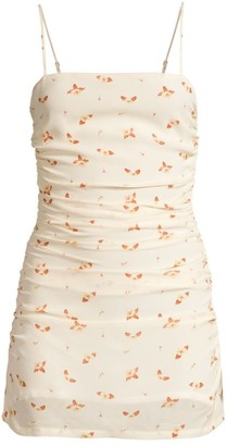 WeWoreWhat Ronnie Floral Side Ruched Bodycon Dress