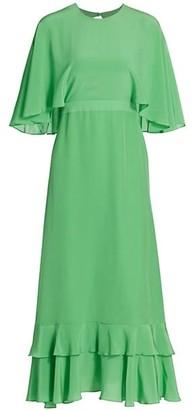 Alexis Cateline Cape-Sleeve Midi Dress