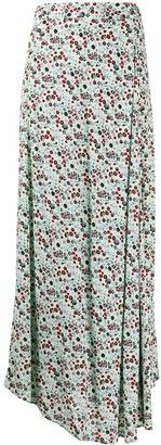 Essentiel Antwerp Voluptuous floral print skirt