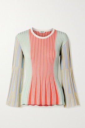 Kenzo Striped Ribbed-knit Top - Red