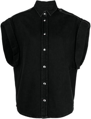 IRO Denim Short-Sleeved Shirt