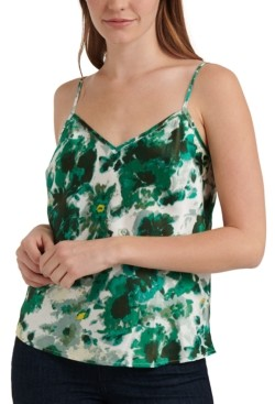 Lucky Brand Natalie Floral-Print Satin Camisole