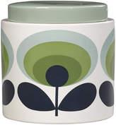 Orla Kiely 70s Oval Storage Jar - 1L - Green