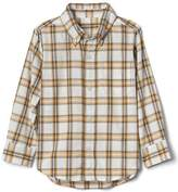 Check button-down pocket shirt