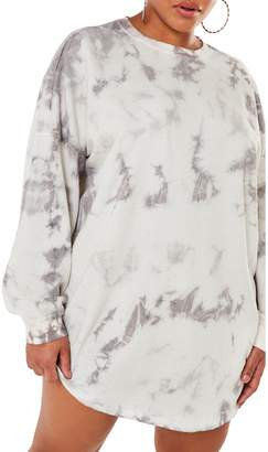 Missguided Plus Tie-Dyed Cotton Sweater Dress