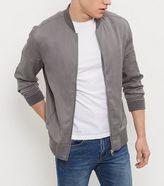 New Look Grey Zip Sleeve Bomber Jacket