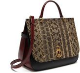 Mulberry Amberley Cream, Black and Crimson Snakeskin and Smooth Calf