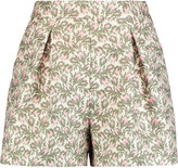 Giambattista Valli Pleated jacquard shorts