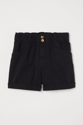 H&M Cotton Twill Shorts - Black
