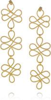 Mallarino Guadalupe 24-karat gold-vermeil earrings