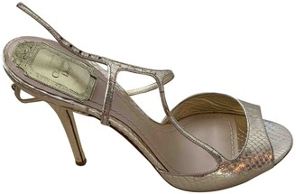 Christian Dior Gold Water snake Sandals