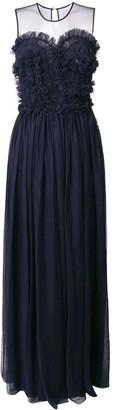 P.A.R.O.S.H. sleeveless flared maxi dress